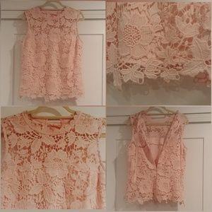 NANETTE Nanette Lepore, Lace Tank Top, Pink